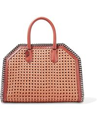 Stella McCartney | The Falabella Box Wicker And Faux Leather Tote | Lyst