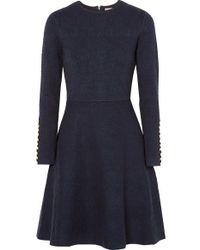 Lela Rose Robe En Jacquard - Bleu