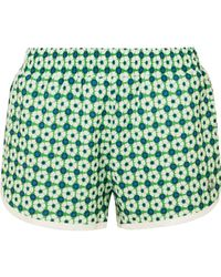 Tory Sport - Floral-print Shell Shorts - Lyst