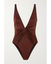 Dodo Bar Or Tannie Knotted Swimsuit - Brown