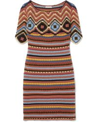 See By Chloé - Crocheted Cotton Mini Dress - Lyst