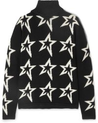 Perfect Moment - Stardust Intarsia Merino Wool Turtleneck Sweater - Lyst