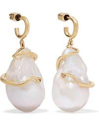3a781c388 Meadowlark - Medusa 9-karat Gold Pearl Earrings - Lyst