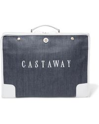 Paravel - The Stowaway Leather-trimmed Printed Canvas Weekend Bag - Lyst