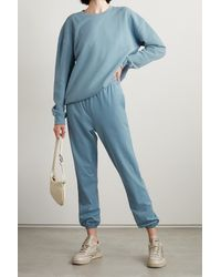 NINETY PERCENT Pantalon De Survêtement En Jersey De Coton Biologique - Bleu