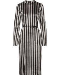 Protagonist - Metallic Striped Woven Midi Dress - Lyst