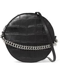 Little Liffner - Tambourine Croc-effect Leather Shoulder Bag - Lyst