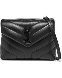 Saint Laurent Loulou Quilted Leather Shoulder Bag - Black