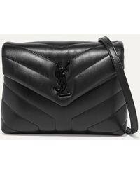 Saint Laurent Loulou Toy Quilted Leather Shoulder Bag - Black