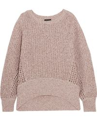 Rag & Bone - Athena Metallic Ribbed And Open-knit Cashmere-blend Sweater - Lyst