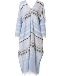 lemlem - Kal Fringed Striped Cotton-blend Gauze Kaftan - Lyst