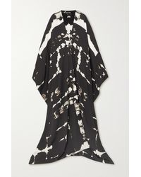 Tom Ford Tie-dyed Silk-crepe Kaftan - Black