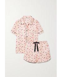 Morgan Lane Tami Bea Printed Satin Pyjama Set - Pink