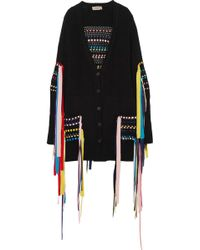 Preen Line - Erya Ribbon-embellished Cotton-blend Cardigan - Lyst