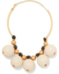 Marni - Gold-plated Resin Necklace - Lyst