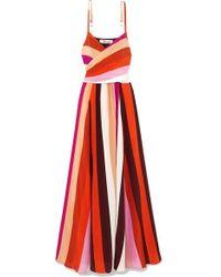 Diane von Furstenberg Azalea Maxikleid Aus Gestreiftem Crêpe De Chine Aus Seide - Pink