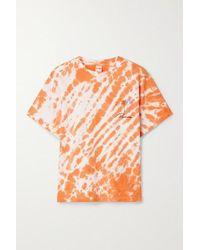 RE/DONE 90s T-shirt Aus Baumwoll-jersey Mit Batikmuster Und Print - Orange