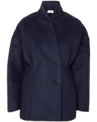 Totême  - Rione Double-breasted Wool-blend Felt Coat - Lyst