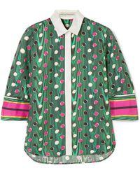 Mary Katrantzou - Rita Printed Silk-twill Shirt - Lyst