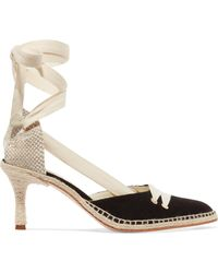 Castaner - + Manolo Blahnik By Day Canvas Court Shoes - Lyst