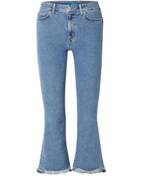 M.i.h Jeans - Marty Cropped High-rise Flared Jeans - Lyst