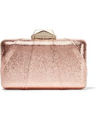 KOTUR - Espey Metallic Faux Textured-leather Clutch - Lyst