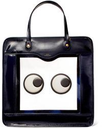 Anya Hindmarch - Rainy Day Appliquéd Perspex And Patent-leather Tote - Lyst