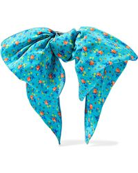 Alessandra Rich - Floral-print Silk-crepe Hairclip - Lyst