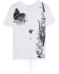 Topshop Unique - Balliol Printed Cotton-jersey T-shirt - Lyst