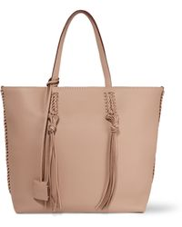 Tod's Gypsy Medium Textured-leather Tote - Natural