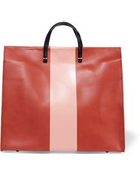 Clare V. - Simple Striped Leather Tote - Lyst