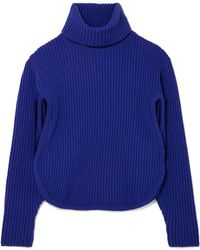 Antonio Berardi - Cutout Ribbed Wool And Cashmere-blend Turtleneck Sweater - Lyst