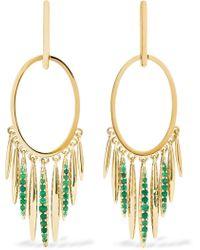 Ileana Makri - Grass Sunset 18-karat Gold Emerald Earrings - Lyst