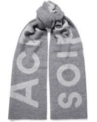 Acne Studios Toronty Intarsia Wool-blend Scarf - Gray