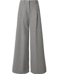 House of Holland - Cotton-blend Jacquard Wide-leg Pants - Lyst
