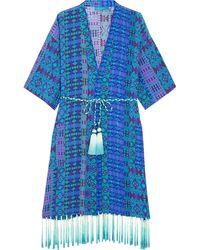 Matthew Williamson - Printed Silk Crepe De Chine Kimono - Lyst