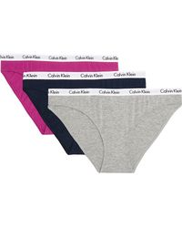 Calvin Klein - Set Of Three Carousel Stretch-cotton Jersey Briefs - Lyst