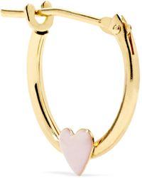 Alison Lou | Huggy 14-karat Gold Enamel Hoop Earring | Lyst