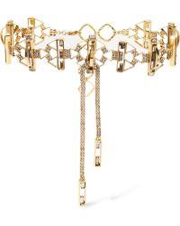 Erickson Beamon - Geometry One Gold-plated Swarovski Crystal Choker - Lyst