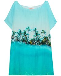 Samudra - Paradise Printed Cotton And Silk-blend Coverup - Lyst