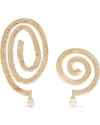 Stvdio Delfina Gold-tone Pearl Earrings - Metallic
