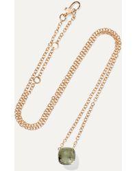 Pomellato Nudo 18-karat White And Rose Gold Prasiolite Necklace - Multicolour
