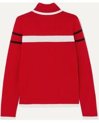 Erin Snow Kito Striped Merino Wool Turtleneck Sweater - Red