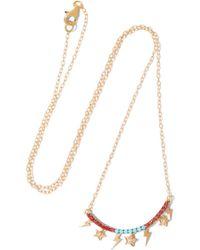 Iam By Ileana Makri - Raining Night Gold-plated Multi-stone Necklace - Lyst