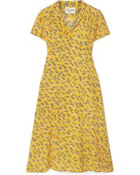 HVN - Morgan Printed Silk Crepe De Chine Dress - Lyst