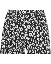 Prism - Leopard-print Stretch-jersey Shorts - Lyst