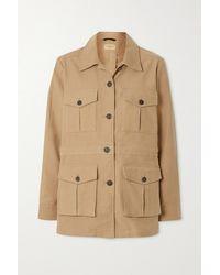 James Purdey & Sons Kingsley Cotton-gabardine Jacket - Natural