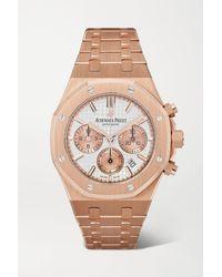 Audemars Piguet Montre En Or Rose 18 Carats Royal Oak Automatic Chronograph 38 Mm - Métallisé
