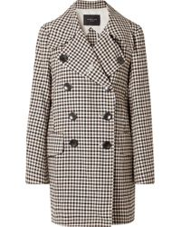 Derek Lam - Double-breasted Gingham Woven Coat - Lyst