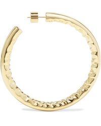 """Jennifer Fisher 2"""" Jennifer Gold-plated Hoop Earrings - Metallic"""